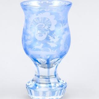 Kleines Pokalglas, wohl Böhmen, 19
