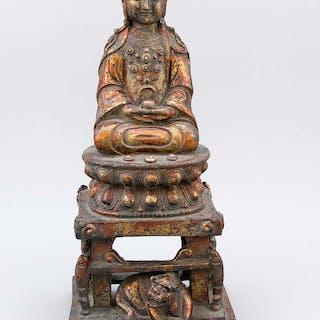 Goldlack-Buddha, China, wohl späte Ming-Dynastie