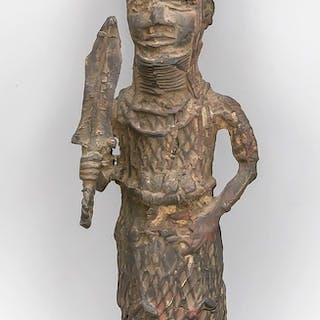 Metall-Statuette, wohl Westafrika, 19