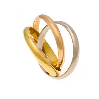 Cartier Ring GG/WG/RG 750/000 Trinity Nr