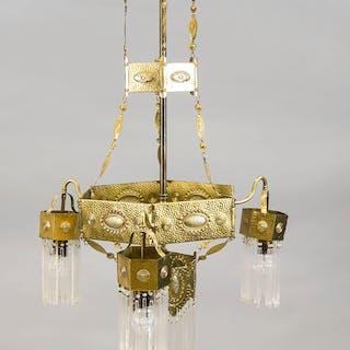 Jugendstil-Deckenlampe, um 1910