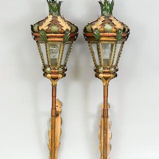 Paar große Wandlaternen/Gartenlampen