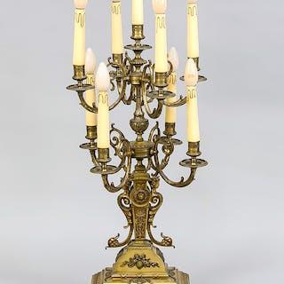 Großer Leuchter im Empire-Stil, Bronze?, 9-flg