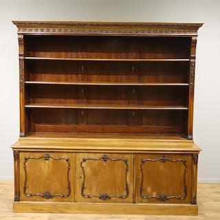 mahonie boekenkast met platte kap current sales barnebyscom