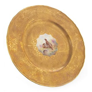 A ROYAL WORCESTER PLATE BY EDWARD TOWNSEND