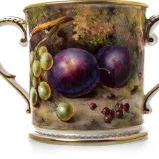 A ROYAL WORCESTER LOVING CUP BY L FLAXMAN