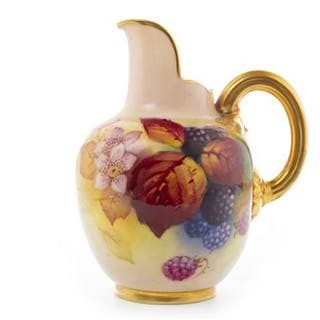 A ROYAL WORCESTER JUG BY KITTY BLAKE