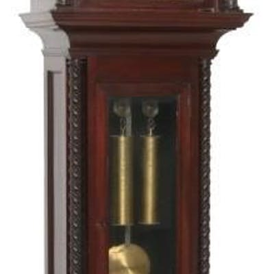 Carved Mahogany 2 Weight Grandfather Clock