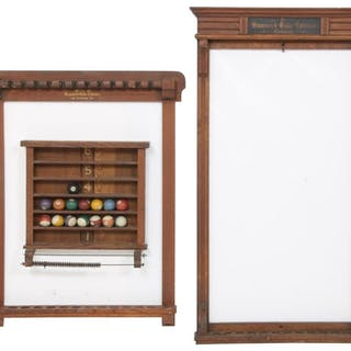 20c5ee24f4 Two Brunswick Pool Cue Racks with Ball Rack