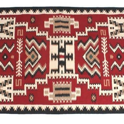 Navajo Teec Nos Pos Pattern Style Large Wool Rug