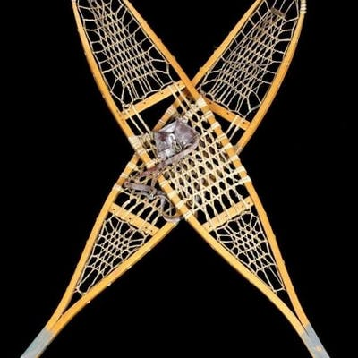 Early 1900's Hickory & Rawhide Snowshoes