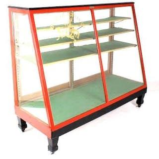 Edward H. Bohlin Co. Rolling Glass Display Case