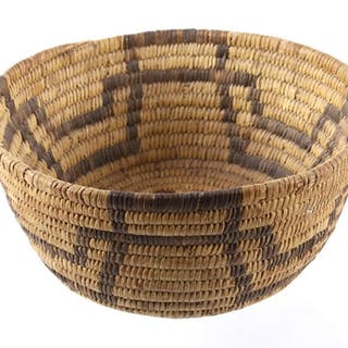 Early Papago Tohono O'odham Woven Basket c. 1900