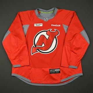 Reebok Red Practice Jersey w/ Barnabas Health Patch New Jersey Devils