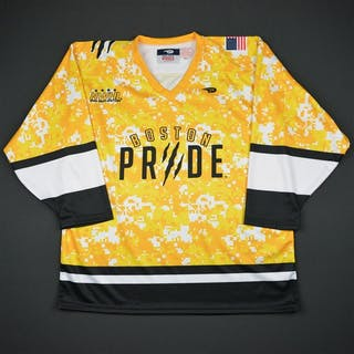 No Name/Number On Back Yellow Camo Boston Pride 2015-16 Size:Large