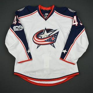 Tynan, T.J. White Set 1 w/ NHL Centennial Patch Columbus Blue Jackets