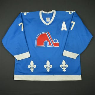 Leschyshyn, Curtis * Blue w/A - Photo-Matched Quebec Nordiques 1989-90 #6