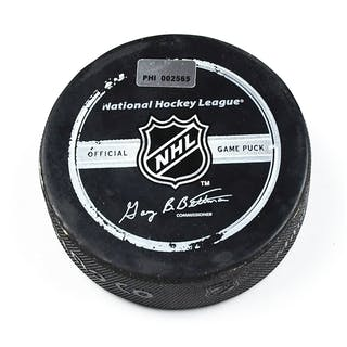 Philadelphia Flyers Game Used Puck * Game Puck - December 12, 2007
