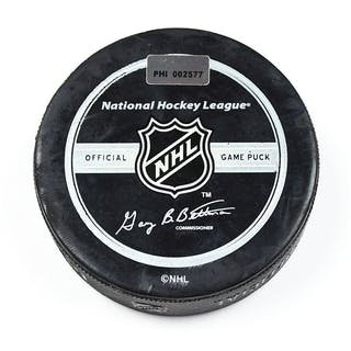 Philadelphia Flyers Game Used Puck * Game Puck - December 27, 2007