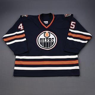 Pisa, Ales Blue Set 3 (Playoffs) GI Edmonton Oilers 2001-02 #45 Size: 58