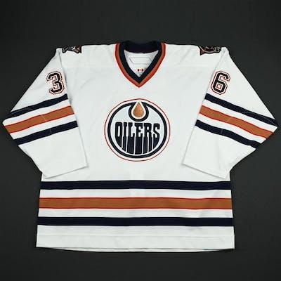 Roy, Mathieu White Set 3 Edmonton Oilers 2006-07 #36 Size: 58