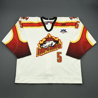 Perry, Todd White Set 1 Columbia Inferno 2007-08 #5 Size: 56