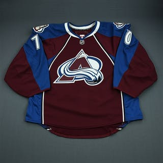 Delmas, Peter Burgundy Set 1 - Game-Issued (GI) Colorado Avalanche