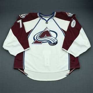 Delmas, Peter White Set 1 - Game-Issued (GI) Colorado Avalanche 2009-10