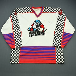 Seher, Kurt * White Set 1 w/A removed Charlotte Checkers 2002-03 #4 Size: 56