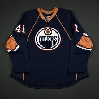 Plante, Alex Navy Set 1 GI (RBK 1.0) Edmonton Oilers 2007-08 #41 Size: 58