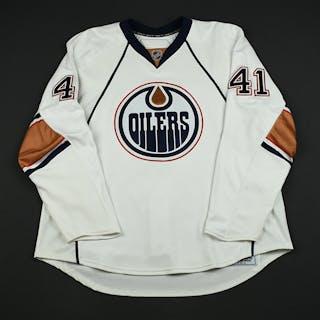 Plante, Alex White Set 1 GI (RBK 1.0) Edmonton Oilers 2007-08 #41 Size: 58