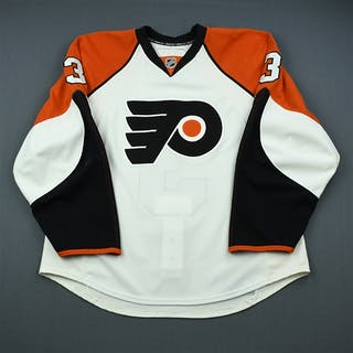 Bartulis, Oskars White Set 3 / Playoffs Philadelphia Flyers 2009-10 #3 Size: 56