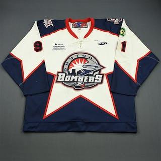 Bowers, Justin White Set 1 Dayton Bombers 2008-09 #91 Size: 56