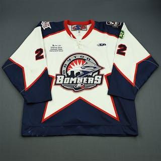 Reaney, Les White Set 1 Dayton Bombers 2008-09 #22 Size: 56