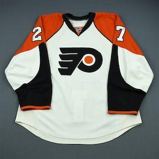 Pyorala, Mika White Set 1 (NHL Debut) Philadelphia Flyers 2009-10 #27 Size: 56