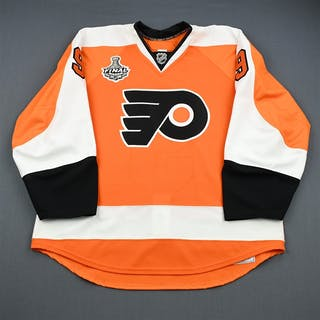 Laliberte, David Orange Game-Issued - Stanley Cup Final Philadelphia