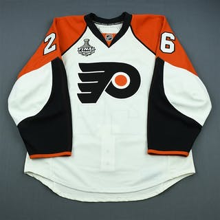 Syvret, Danny White Game-Issued - Stanley Cup Final Philadelphia Flyers