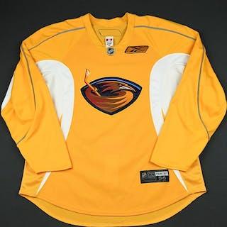 Reebok Yellow Practice Jersey Atlanta Thrashers 2009-10 #N/A Size: 56