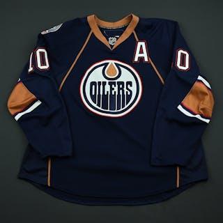 Horcoff, Shawn Navy Set 1 w/A Edmonton Oilers 2008-09 #10 Size: 58