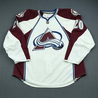 Preissing, Tom White Set 3 - Game-Issued (GI) Colorado Avalanche 2009-10