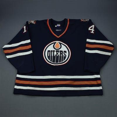 Lindgren, Mats Blue Set 1 Edmonton Oilers 1997-98 #14 Size:56