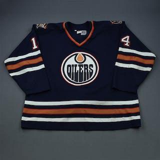 Lindgren, Mats Blue Set 1 Edmonton Oilers 1998-99 #14 Size:56
