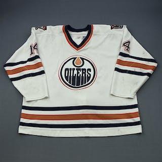 Lindgren, Mats White Set 1 Edmonton Oilers 1998-99 #14 Size:58