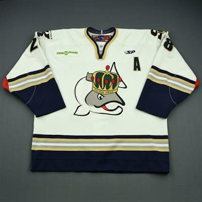 Wedderburn, Tim White Set 1 w/A Victoria Salmon Kings 2009-10 #28 Size: 56
