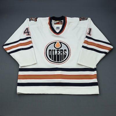 Hajt, Chris White Set 1 Edmonton Oilers 1999-00 #41 Size: 58