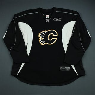 Reebok Black Practice Jersey Calgary Flames 2009-10 Size: 58+G