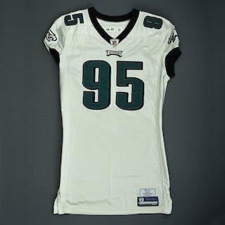 Abiamiri, Victor White Philadelphia Eagles 2008 #95 Size: 50-O