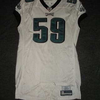 Cole, Nick White Philadelphia Eagles 2008 #59 Size: 54-O