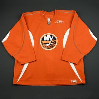 Reebok Edge Orange Practice Jersey New York Islanders 2006-07 # Size: 58
