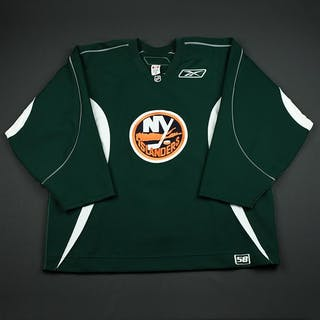 Reebok Edge Dark Green Practice Jersey New York Islanders 2006-07 # Size: 58